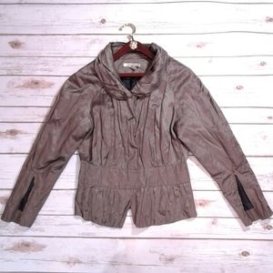 Kenneth Cole 3 button metallic bomber jacket
